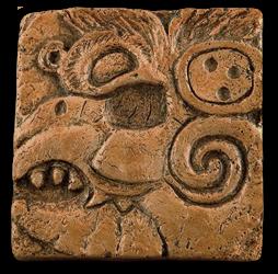 Concrete Mayan alphabet tile