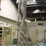 Full size male fairy sculpture