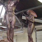 Completed Nubian Fairy sculptures