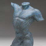 Small Bronze Male Torso