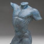 Small Bronze Male Torso