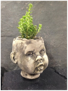 BabySnooks - concrete baby head planter